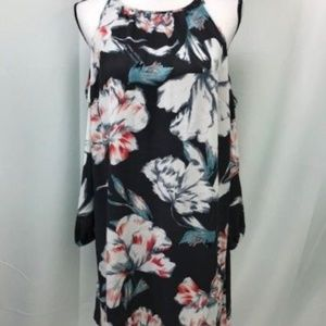 1.State Floral Print Cold Shoulder Dress
